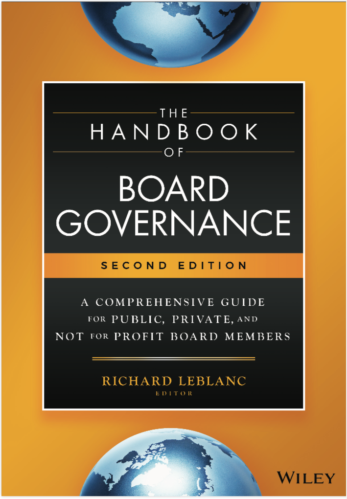 The Handbook of Board Governance Cover